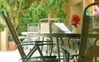 Balkónový nábytek v zimě
