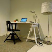 Pracovna v malém bytě